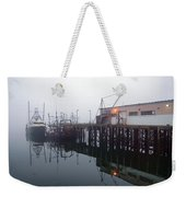 Night Fog Along The Dock Weekender Tote Bag by Bob Orsillo