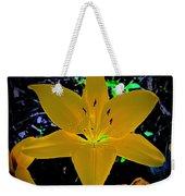 Night Glow Lily Weekender Tote Bag