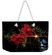 Night Hibiscus Weekender Tote Bag