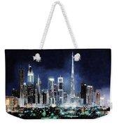 night in Dubai City Weekender Tote Bag