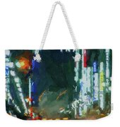 Night Lights City Weekender Tote Bag