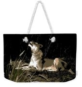 Night Lioness Weekender Tote Bag