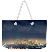Night Los Angeles Skyline Weekender Tote Bag