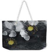 Night Lotus Weekender Tote Bag