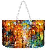 Night Mood In The Park Weekender Tote Bag