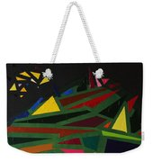 Night On The Green Fractures And Lights Weekender Tote Bag