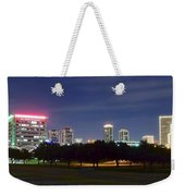 Night Pano Of Fort Worth Weekender Tote Bag