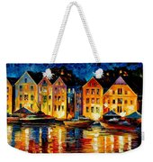 Night Resting Original Oil Painting  Weekender Tote Bag