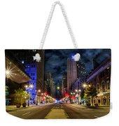 Night Shot Of Broad Street - Philadelphia Weekender Tote Bag
