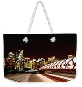 Night Shots Calgary Alberta Canada Weekender Tote Bag