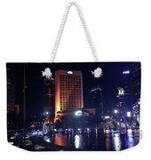 Night Skyline Of Jakarta Indonesia 3 Weekender Tote Bag