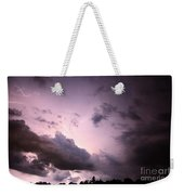 Night Storm Weekender Tote Bag by Amanda Barcon