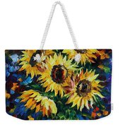 Night Sunflowers Weekender Tote Bag