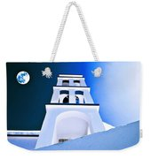 Night Taking Over The Day Of Church In Greece Crete 2 Weekender Tote Bag