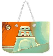 Night Taking Over The Day Of Church In Greece Crete 3 Weekender Tote Bag