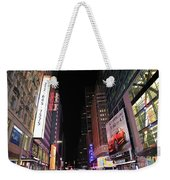 Night Time At Times Square Weekender Tote Bag