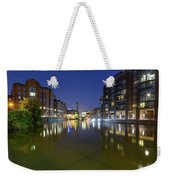 Night View Across River Avon To Temple Bridge Bristol England Weekender Tote Bag