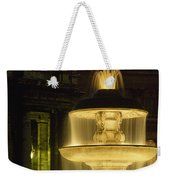 Night View Of A Fountain Outside Saint Weekender Tote Bag