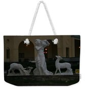 Night View Of Fountain In Front Of The Arlington Hotel, Arkansas, Ar Weekender Tote Bag