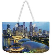 Night View Of The Esplanade And Central Weekender Tote Bag