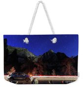 Night View Of The Upper And Lower Yosemite Fall Weekender Tote Bag