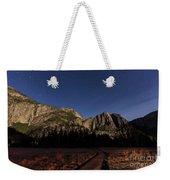 Night View Of The Upper Yosemite Fall Weekender Tote Bag