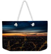Night View Over Paris With Eiffel Tower Weekender Tote Bag