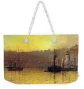 Nightfall In Scarborough Harbour Weekender Tote Bag