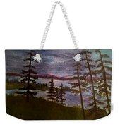 Nightime Rangely Lake Maine Weekender Tote Bag