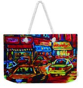 Nightlights On Main Street Weekender Tote Bag