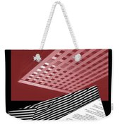 Striped Dreams Of Hubert Humphrey Weekender Tote Bag