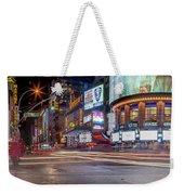 Nights On Broadway Weekender Tote Bag