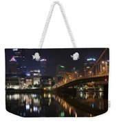 Nighttime In The City Weekender Tote Bag