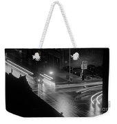 Nighttime Street Scene With Traffic Weekender Tote Bag