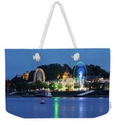 Nijmegen Along The Waal River With A Fairground Weekender Tote Bag