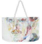 Nikola Tesla - Watercolor Portrait.3 Weekender Tote Bag