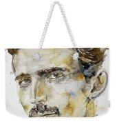 Nikola Tesla - Watercolor Portrait.6 Weekender Tote Bag