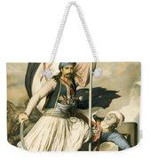 Nikolakis Mitropoulos Raises The Flag With The Cross At Salona On Easter Day 1821 Weekender Tote Bag