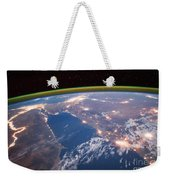 Nile River At Night From Iss Weekender Tote Bag