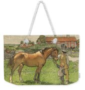 Nils Kreuger, 1858-1930, Brunte Picked Up On Sunday Morning Weekender Tote Bag