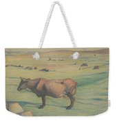 Nils Kreuger, 1858-1930, Cow In The Meadow Weekender Tote Bag