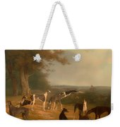 Nine Greyhounds In A Landscape Weekender Tote Bag