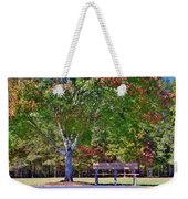 Ninety Six National Historic Site Bench In Autumn  Weekender Tote Bag