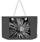 Niobe Clematis Study In Black And White Weekender Tote Bag