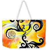 Nirvana Zen Yellow Way To Eternity Weekender Tote Bag