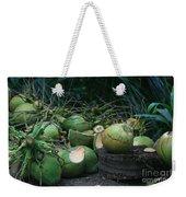 Niu Hawaiian Coconuts Hooululahui Kahekilinui Wailuku Weekender Tote Bag