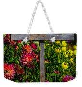 No Cutting Sign In Garden Weekender Tote Bag