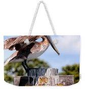 No Fishing Baby Pelican Weekender Tote Bag