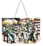 No Mexican Wall, Mister Trump - Political Cartoon Weekender Tote Bag