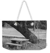 No One Sits Here In Black And White Weekender Tote Bag